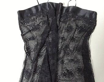Black Lace BUSTIER - Size 4 / 6 US
