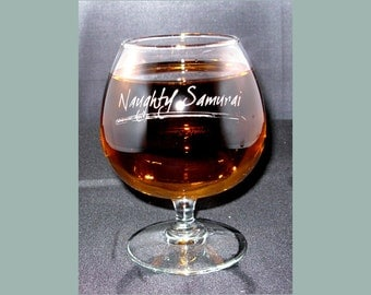 Brandy Snifer 12oz, Engraved Brandy Glass, Personalized Brandy Glass, Custom Brandy Snifter, 12 ounce Brandy Snifter