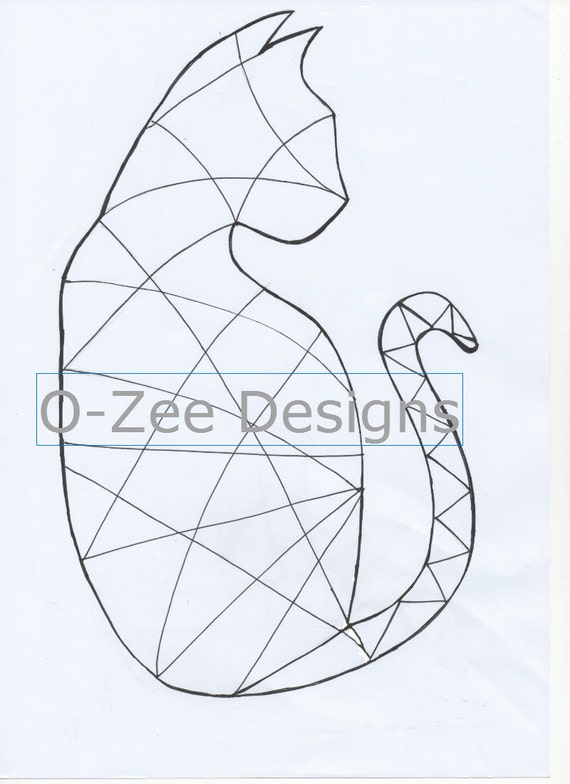 Cat Zentangle Template printable PDF A4 by OZeeDesigns on Etsy