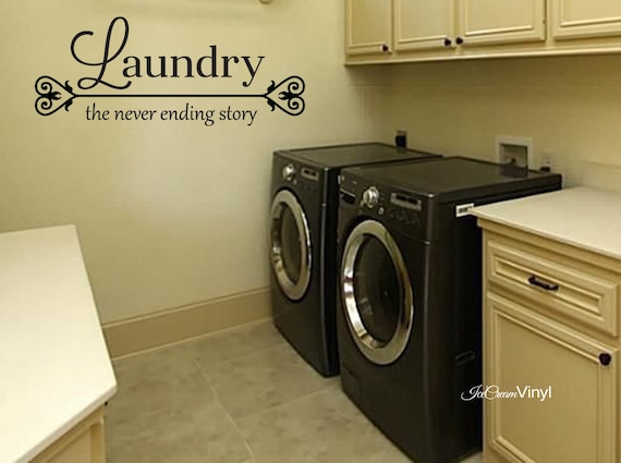 Laundry The Never Ending Story Wall Decal Home Decor Wall Art Vinyl Quote