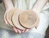 Wooden coaster - Oak wood - Wood slice coaster - Rustic coaster