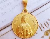 Medal - Saint Mary Magdalene 18K Gold Vermeil Medal - 29mm