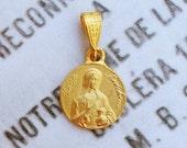 Medal - Saint Mary Magdalene 18K Gold Vermeil Medal - 14mm