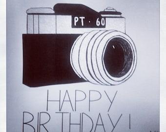 Vintage Camera Birthday Card
