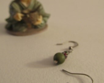2817 -Earrings Labradorite and Ceramic