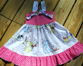 Knot  Party Dress Fashionable Princess Dress. Handmade Girls Dress, Little Girls Birthday Party dress, Princess Dress..