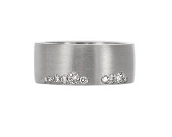 unique wedding band wide wedding band modern engagement ring wide diamond wedding band