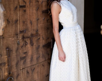 Sabrina -- Vintage Style Tea-Length Wedding Gown