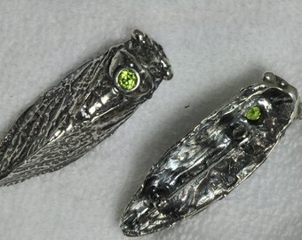 Sterling Silver Cicada Brooch