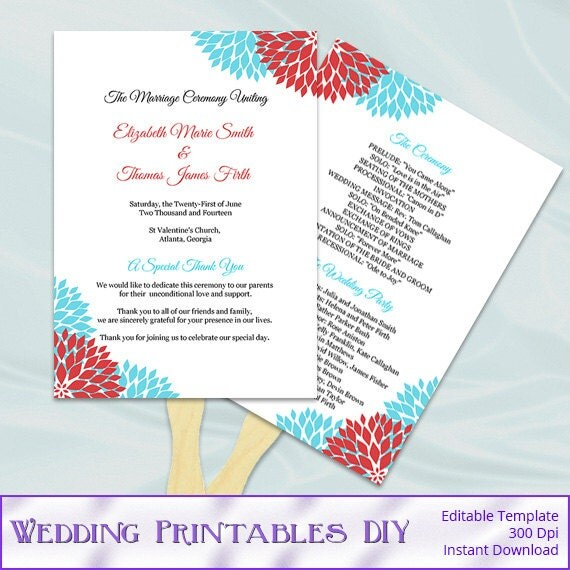 Wedding Programs Fans Lookup Beforebuying Free Printable Church Fan Templates Blank Program
