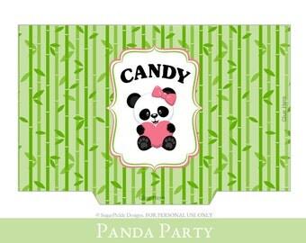 Panda Goodie Bag, goodie bag printable, Loot Bag printable, Panda Birthday Printable, Panda Party Decorations