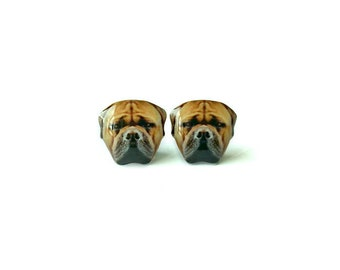 Bullmastiff Earrings / Post Earrings / Studs / Jewelry / Jewellery / dog / Present