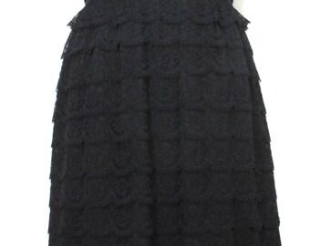 Vtg 50s Ferman O'Grady Black Lace Dress // Mad Men // Vintage // LBD // Black Lace // Metal Zipper //