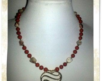 Necklace - Caramel Elegance - 2 Piece Se