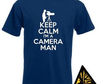 Keep Calm I'm A Cameraman T-Shirt Joke Funny Tshirt Tee Shirt Gift Camera Man Film Crew Movie Director