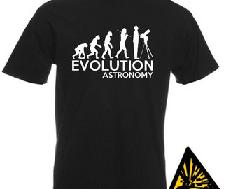 Evolution Of Man From Ape To Astronomy T-Shirt Joke Funny Astronomy Star Gazing