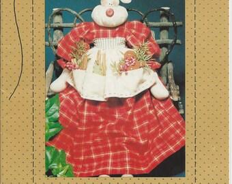 "Vintage Reindeer Sewing Pattern 1992 Rosie Reindeer 19"" A Cookie for Santa by Country Stitches  new, uncut"