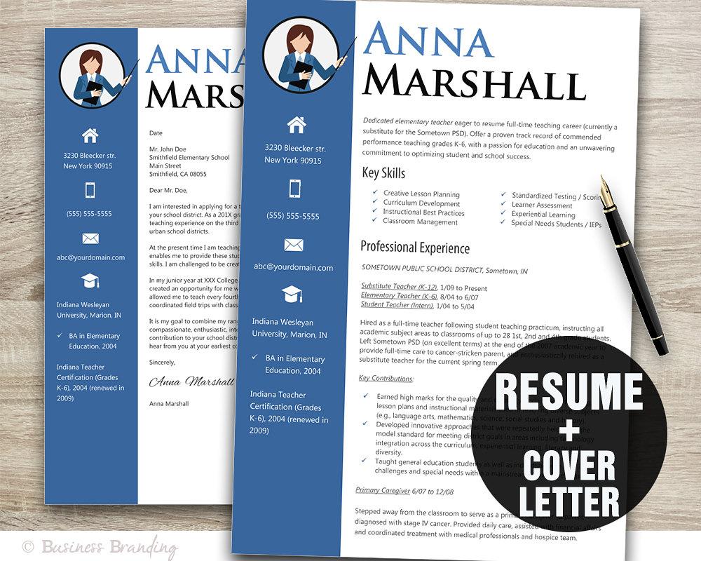 teacher resume template resume cover letter template