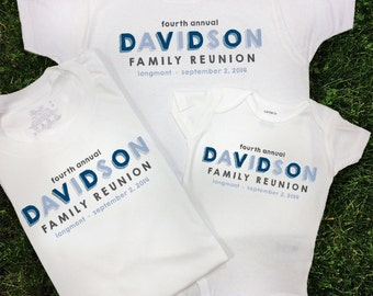 personalized family reunion shirts choose your design color and shirt styles blocky - Family Reunion Shirt Design Ideas