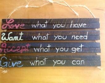 custom quote on wood wood wall hanging wood wall art rustic home decor