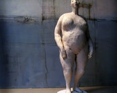 Small Naked Standing Woman I / Ceramic Sculpture/ Unique Figure
