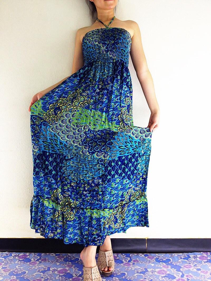 Thai Women Maxi Dress Gypsy Dress Boho Dress Hippie Dress