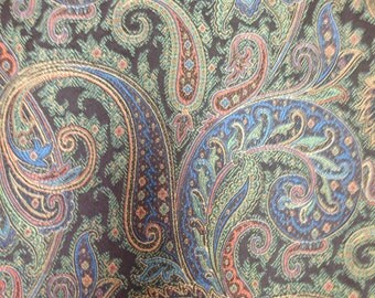 Multicolored Paisley  - Upholstery Fabric By The Yard
