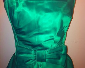Green Strapless Adorable Vintage Party Dress