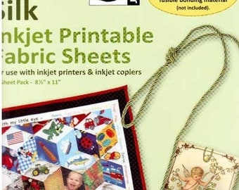 "Jacquard Printable Inkjet Fabric Sheets 100% Silk 8.5"" x 11"" (10)"
