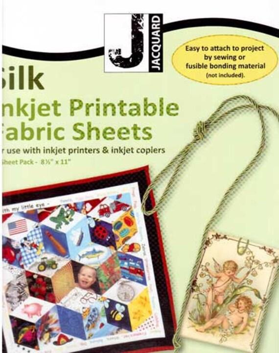 Jacquard Printable Inkjet Fabric Sheets 100 Silk 8 5 Quot X