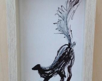 The Skunk. Original illustration.