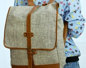 Ivory Cream backpack / School Bag / lightweight rucksack / holiday bag for beach or bike/  Hippie/Boho ethnic gypsy woven tapestry hobo bag