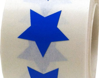 "500 Blue Star Shape Stickers | 3/4"" Adhesive Star Stickers"