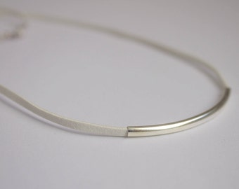 Choker with silver tube