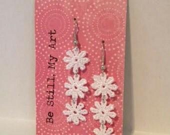 Dainty Flower Chain Earrings