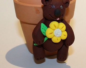 Polymer Clay Bear Pot