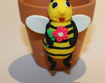 Polymer Clay Bee Pot