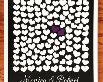 """Modern Wedding, 3D Wedding Guest Book, Custom Guestbook, Wedding Guestbook, Wedding Frame, Guest Book Poster, Alternative Guestbook, 17""""x21"""""""