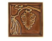 Pinecone Art Tile (Brown)