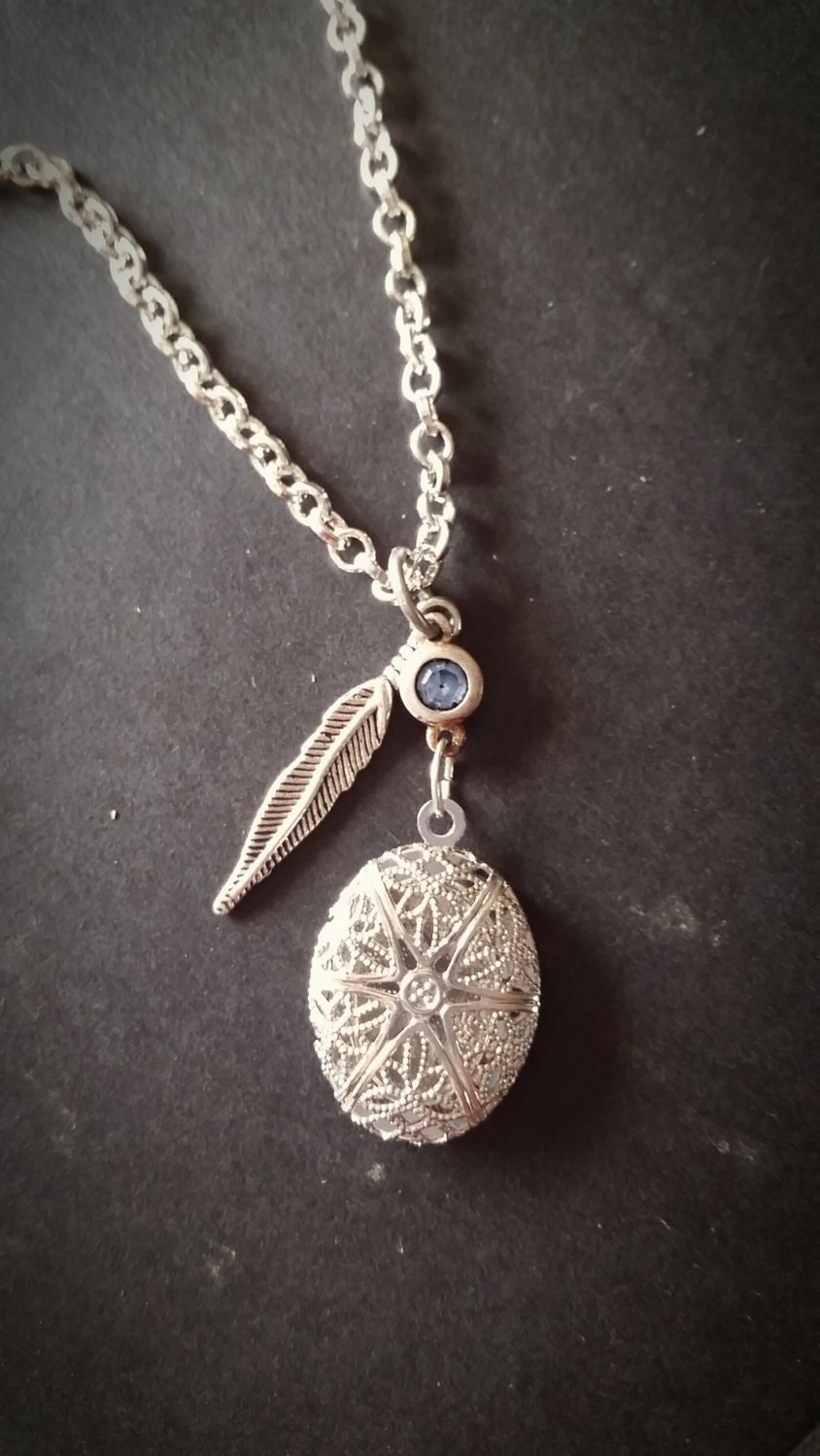 silver aromatherapy necklace essential diffuser locket