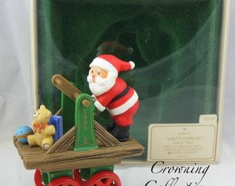 1983 Hallmark Here Comes Santa Ornament Keepsake Christmas Santa Express Santa Claus 5th Train HandCar