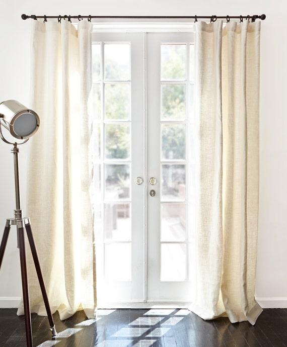 Belgian Textured Linen Drapery Window Panels Linen Curtains