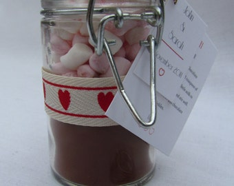 Wedding Favours: Hot Chocolate in a Jar Favours