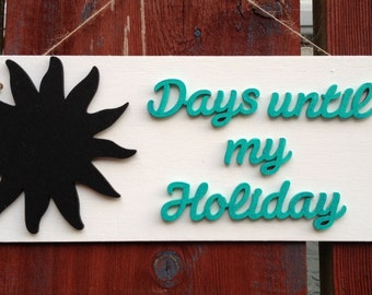 Holiday Countdown plaque