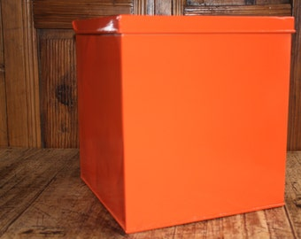 Upcycled Vintage Metal Storage Box