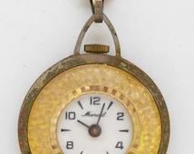 Vintage pocket watch pendant Marcel Swiss Made steampunk