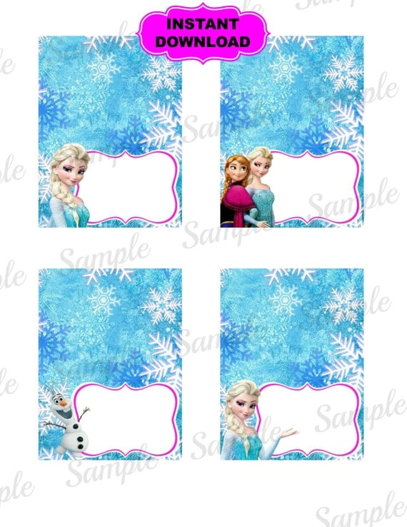 Frozen Food Tent Princess Printable Disney Frozen Inspired Frozen Princess Pictures Printable