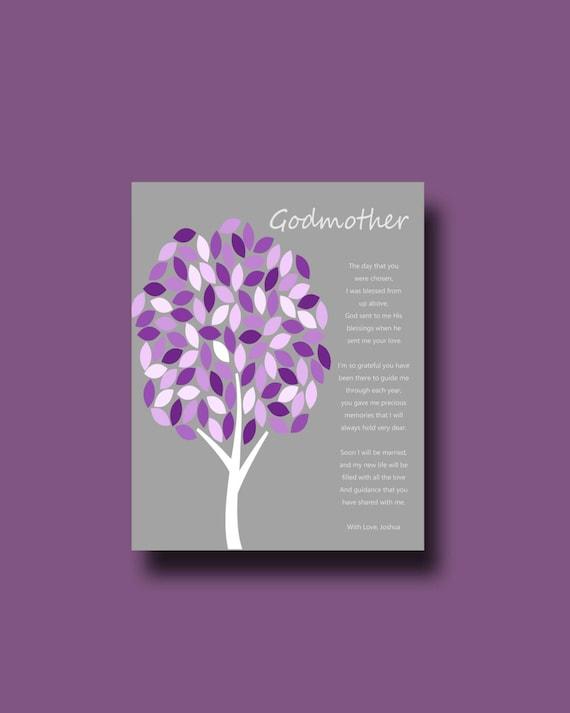 Godmother Wedding Gift: GODMOTHER Of The Bride Godmother Gift FROM BRIDE On Wedding