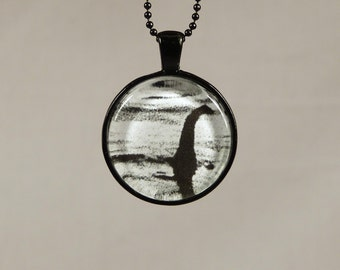 Loch Ness Monster Necklace - Nessie - Horror - Photo Jewelry