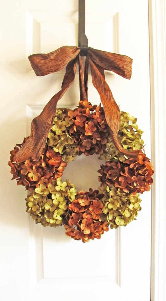 Fall Wreaths For Door Hydrangea Wreaths Fall Door By